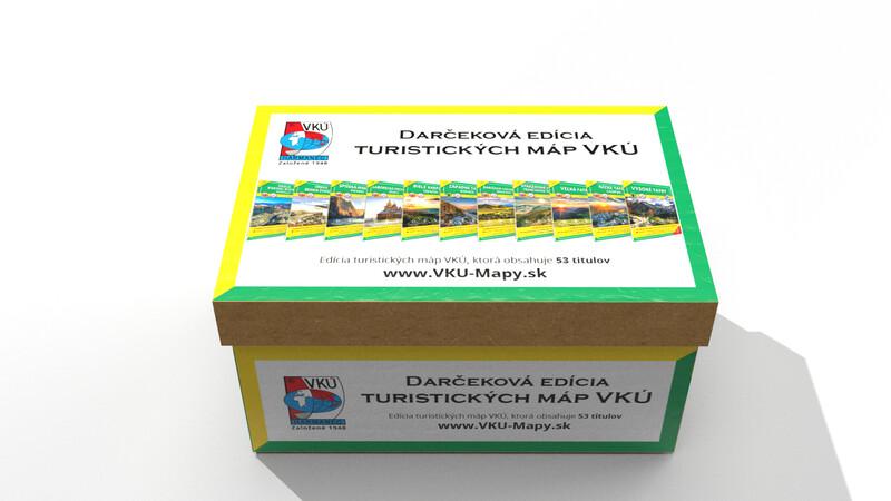 Dárková edice turistických map VKÚ