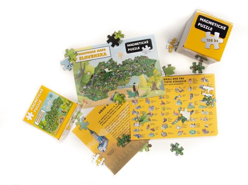 Magnetické puzzle - Malovaná mapa Slovenska