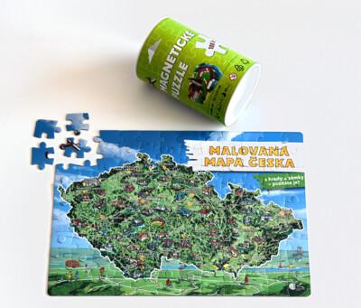 Magnetické puzzle - Malovaná mapa Česka