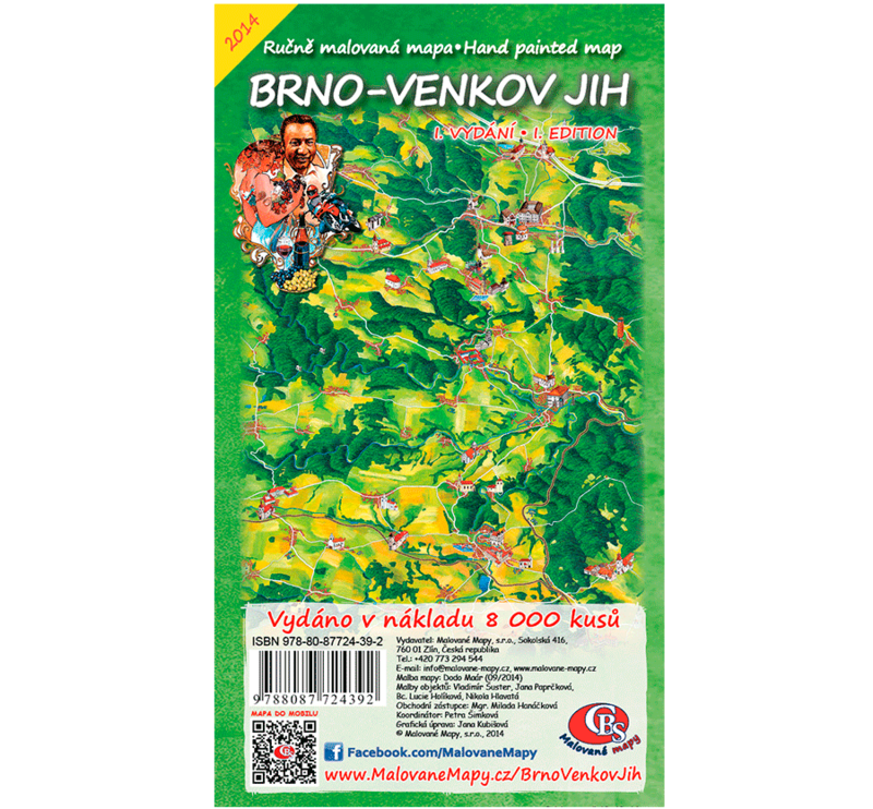 Brno-venkov jih - nástěnná mapa