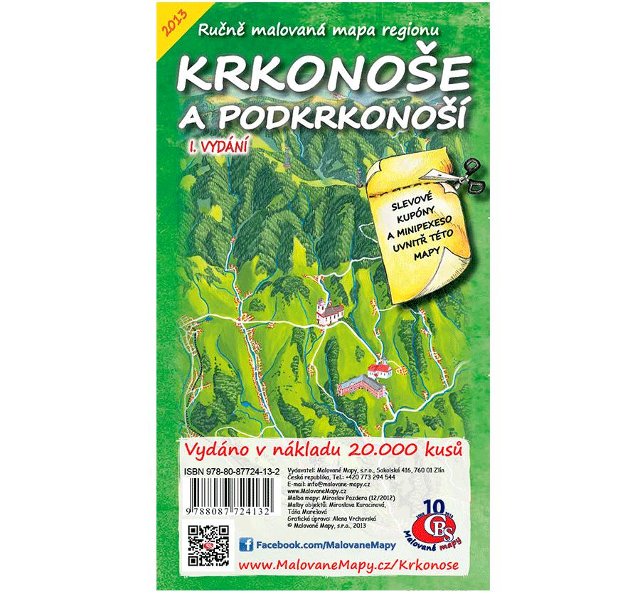 Krkonoše a Podkrkonoší - nástěnná mapa