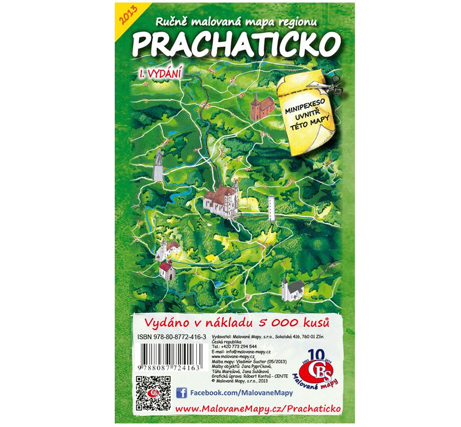 Prachaticko - nástěnná mapa