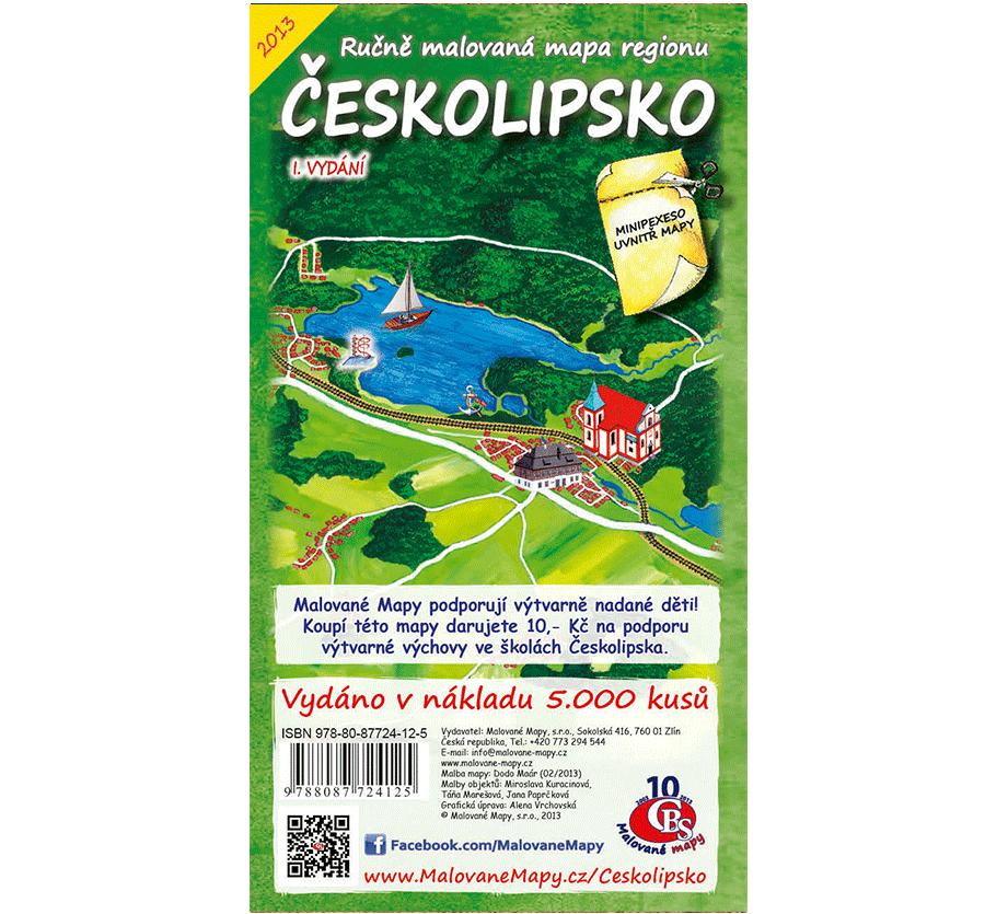 Českolipsko - nástěnná mapa