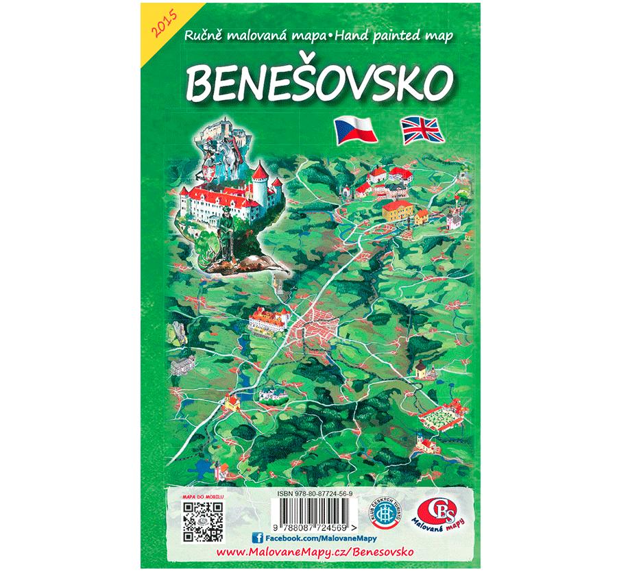 Benešovsko - nástěnná mapa