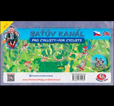 Baťův kanál, cyklomapa - nástěnná mapa