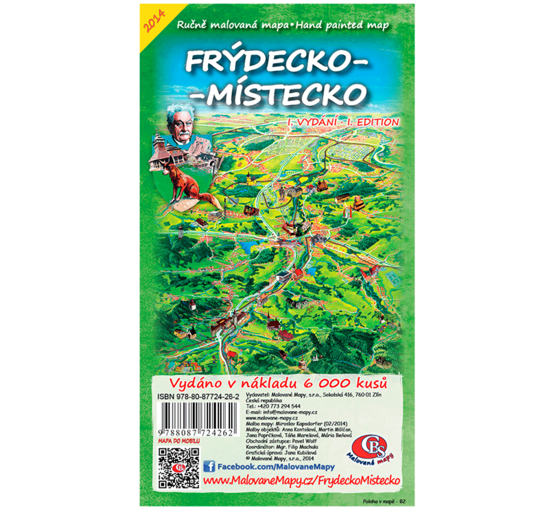 Frýdecko-Místecko - nástěnná mapa