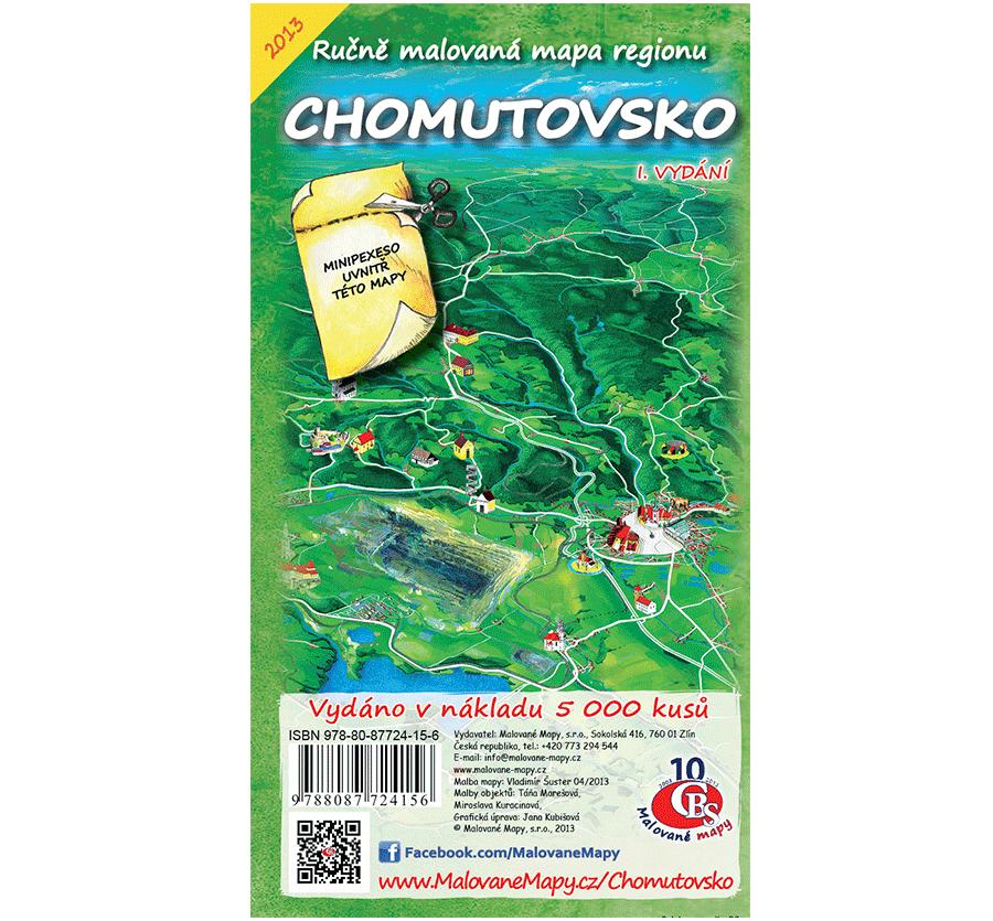 Chomutovsko - nástěnná mapa