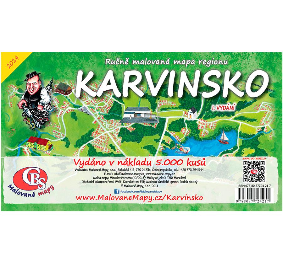 Karvinsko - nástěnná mapa