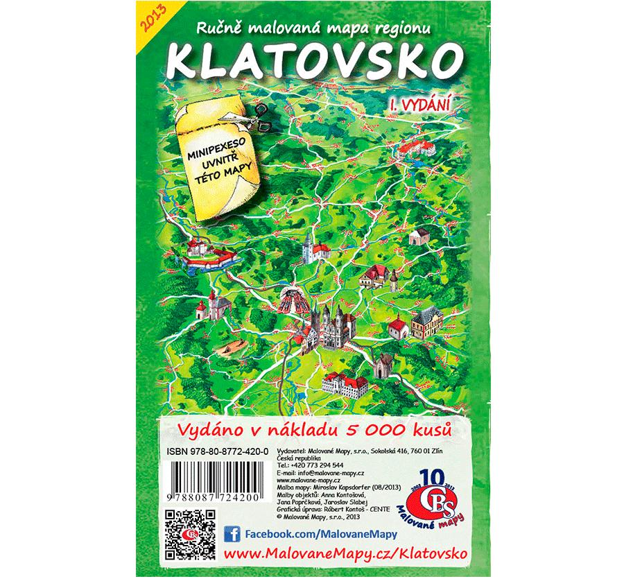 Klatovsko - nástěnná mapa