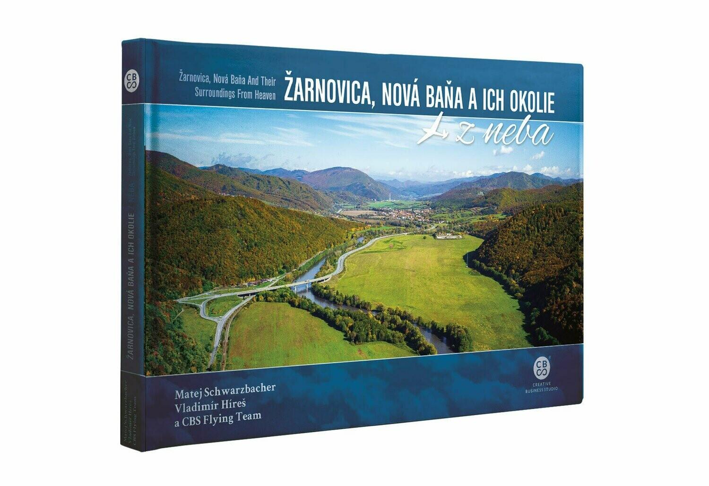 Žarnovica a Nová Baňa a ich okolie z neba