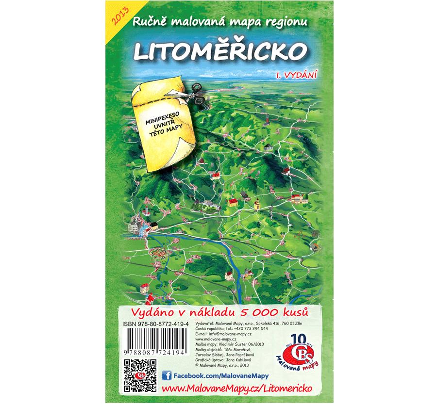 Litoměřicko - nástěnná mapa