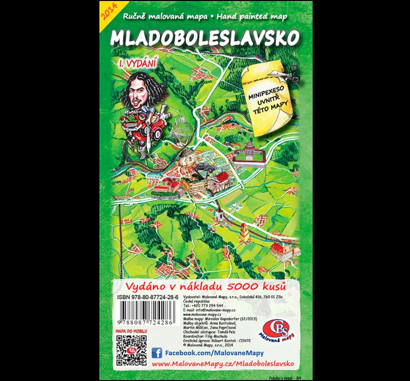 Mladoboleslavsko - nástěnná mapa