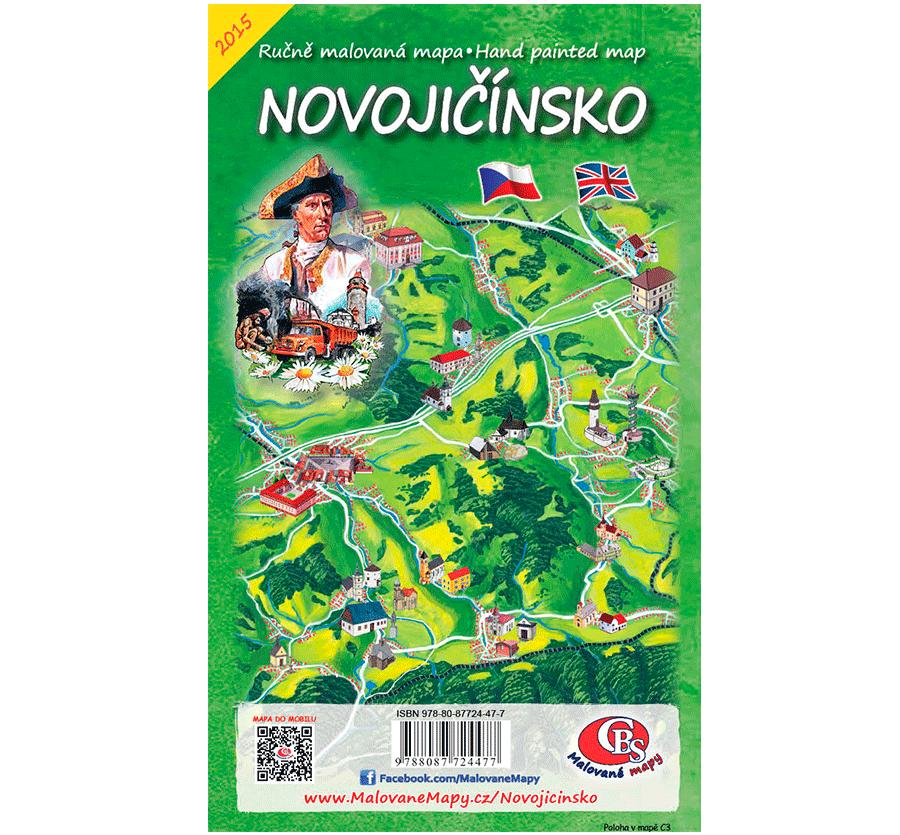 Novojičínsko - nástěnná mapa