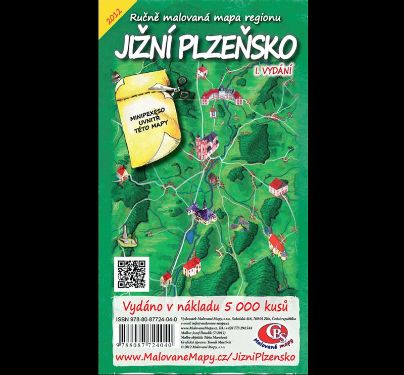 Jižní Plzeňsko - nástěnná mapa
