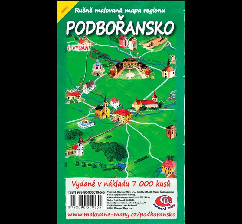 Podbořansko - nástěnná mapa