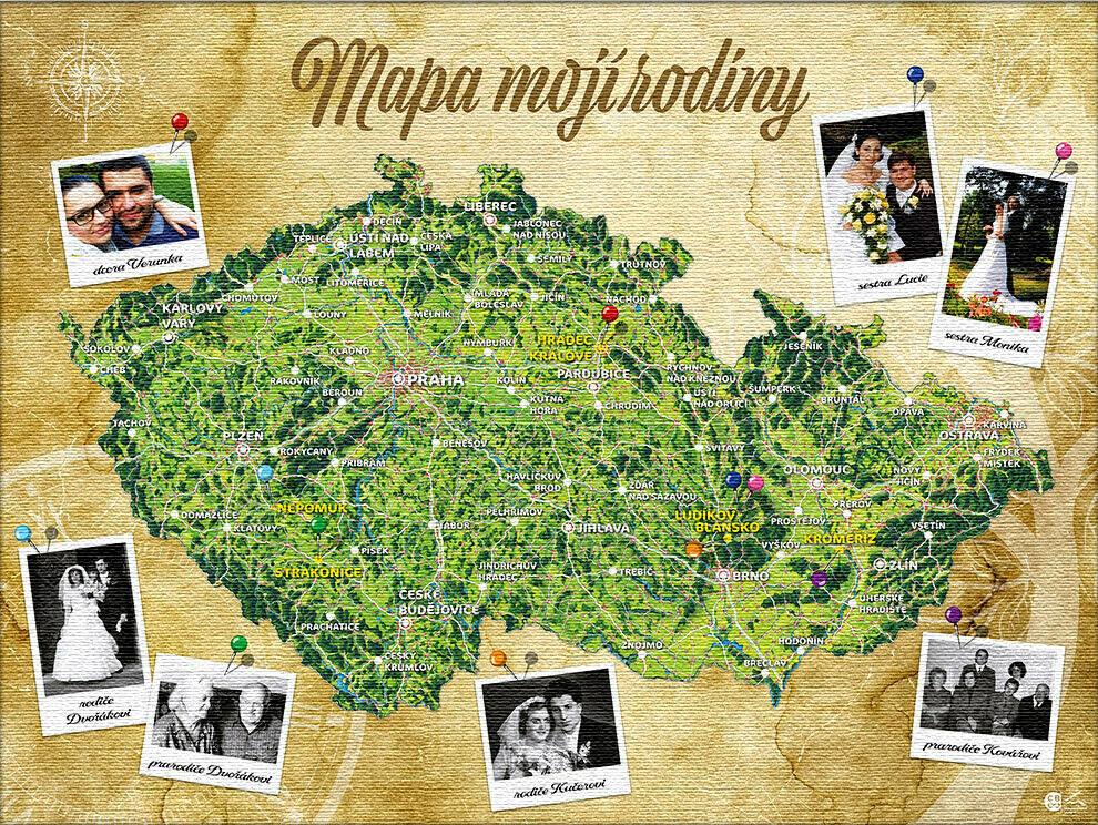 Mapa mojí rodiny