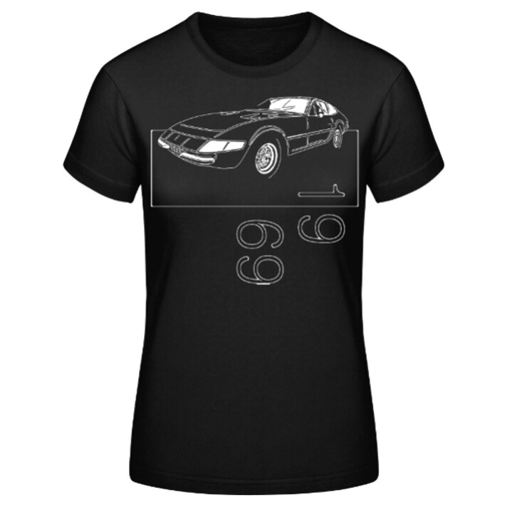 "Ferrari 365 GTB/4 ""Daytona"" Frauen T-Shirt - No. 6sketch"