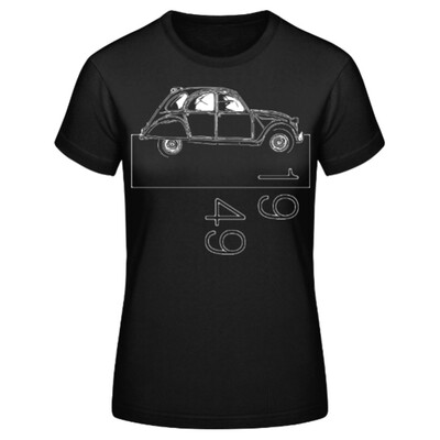 Citroen 2cv Frauen T-Shirt - No. 159sketch