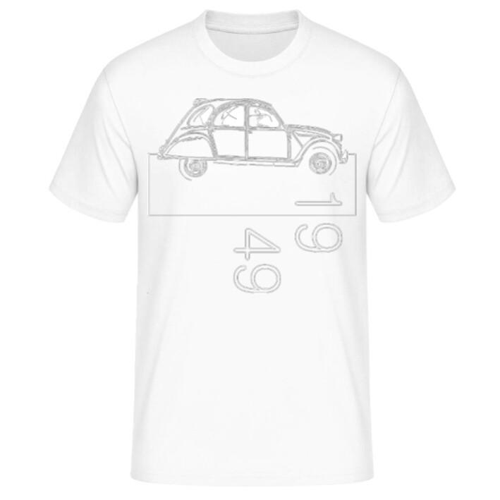 Citroen 2cv Männer T-Shirt - No. 159sketch
