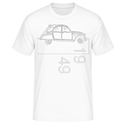 Citroen 2cv Männer T-Shirt - No. 159sketch