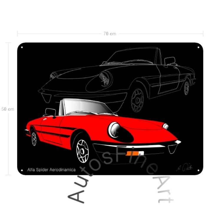 Alfa Romeo Spider Aerodinamica - Blechbild No. 30sketch