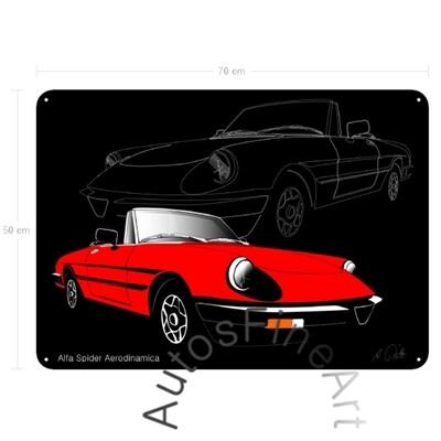 Alfa Romeo Spider Aerodinamica - Blechbild No. 30