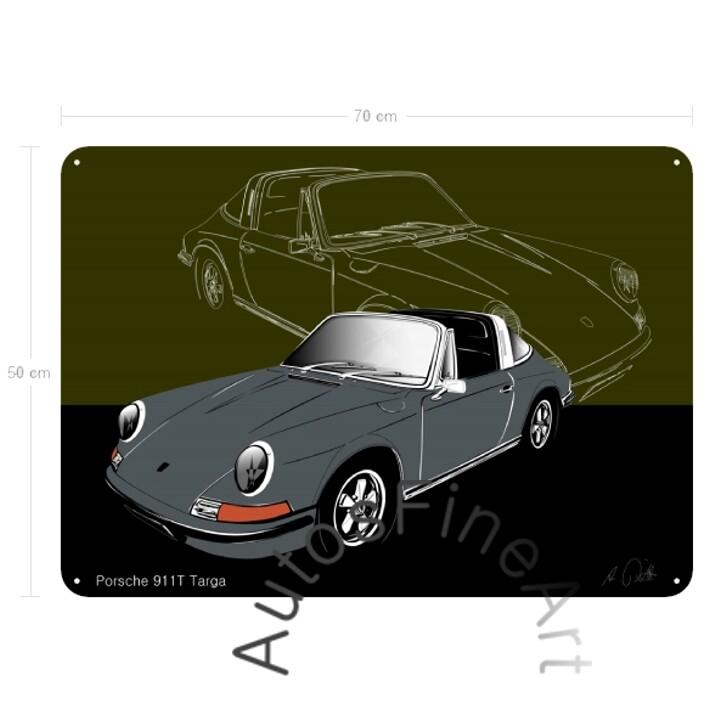 Porsche 911T Targa - Blechbild No. 116sketch