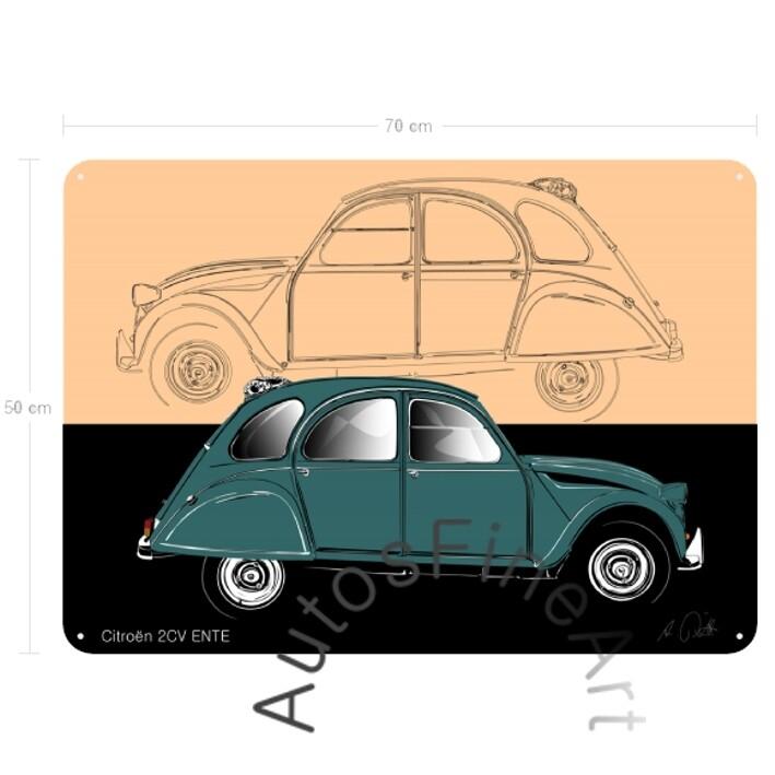 Citroen 2cv ENTE - Blechbild No. 159sketch