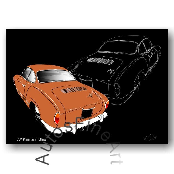 VW Karmann Ghia - Poster No. 154sketch
