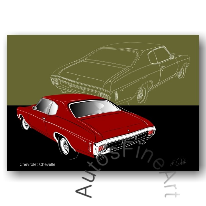 Chevrolet Chevelle - Poster No. 161sketch
