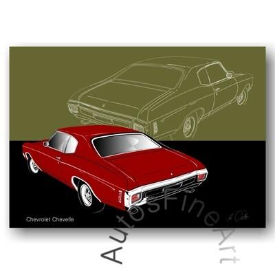 Chevrolet Chevelle - HD Aluminiumbild No. 161sketch