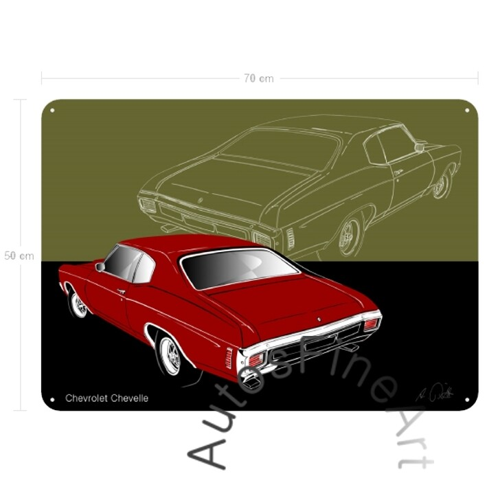 Chevrolet Chevelle - Blechbild No. 161sketch
