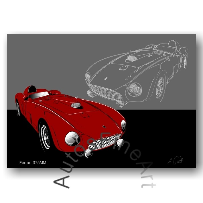 Ferrari 375MM - HD Aluminiumbild No. 158sketch