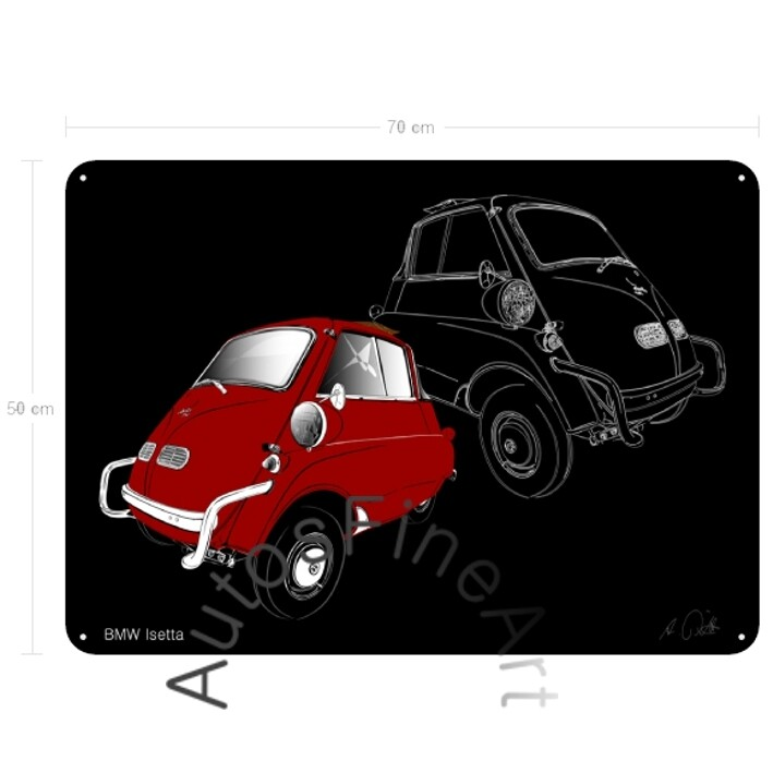 BMW Isetta - Blechbild No. 160sketch