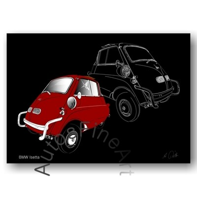 BMW Isetta - HD Aluminiumbild No. 160sketch