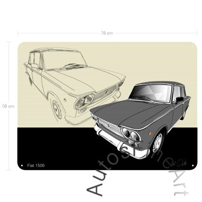 Fiat 1500 - Blechbild No. 157sketch