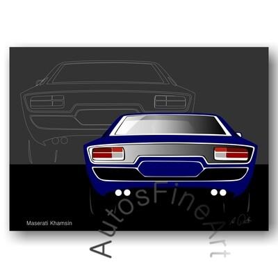 Maserati Khamsin - HD Aluminiumbild No. 5sketch