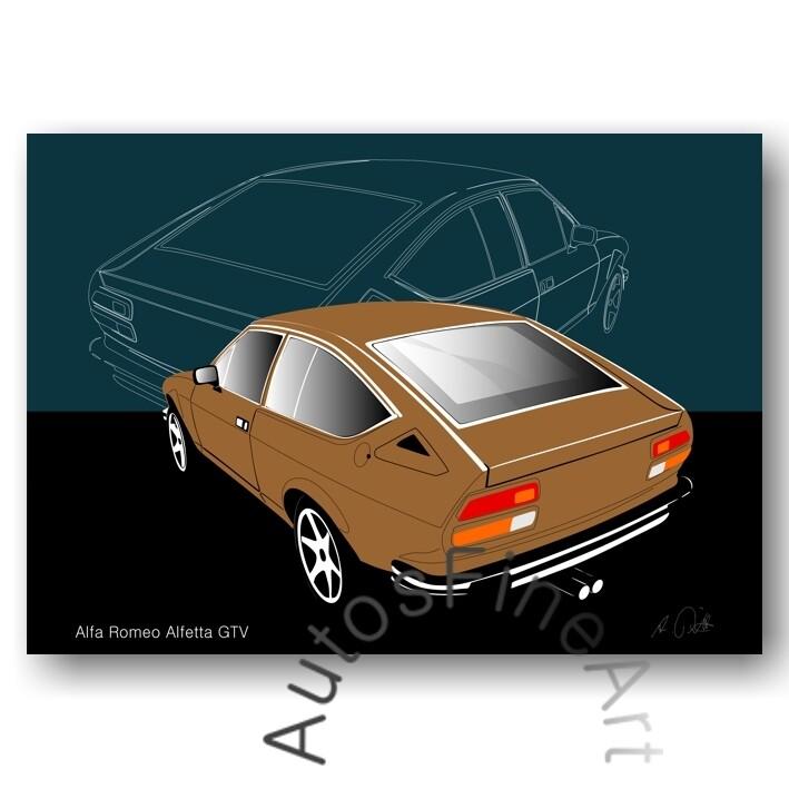 Alfa Romeo Alfetta GTV - Kunstdruck No. 7sketch