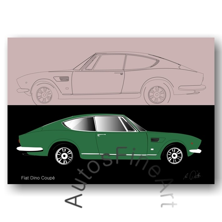 Fiat Dino Coupé - Poster No. 8sketch