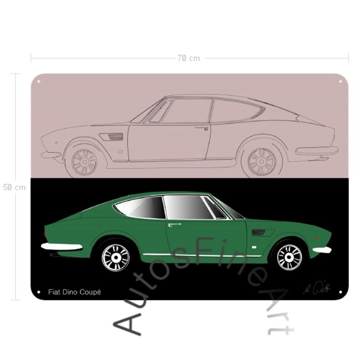 Fiat Dino Coupé - Blechbild No. 8sketch