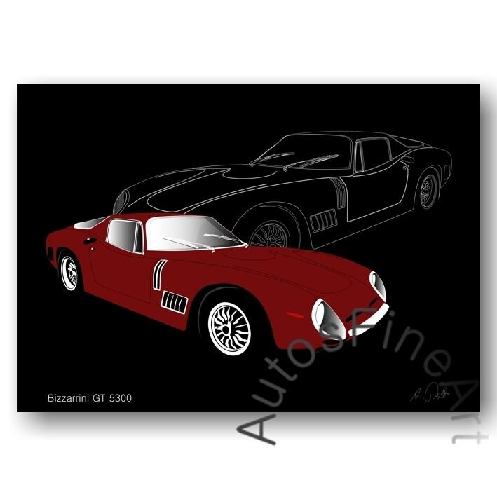 Bizzarrini GT 5300 - HD Aluminiumbild No. 10sketch