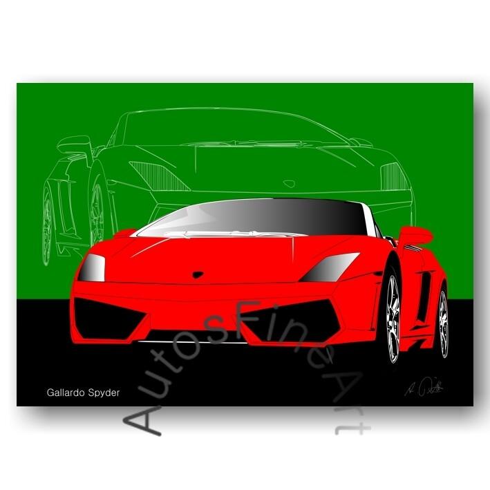 Lamborghini Gallardo Spyder - Poster No. 12sketch