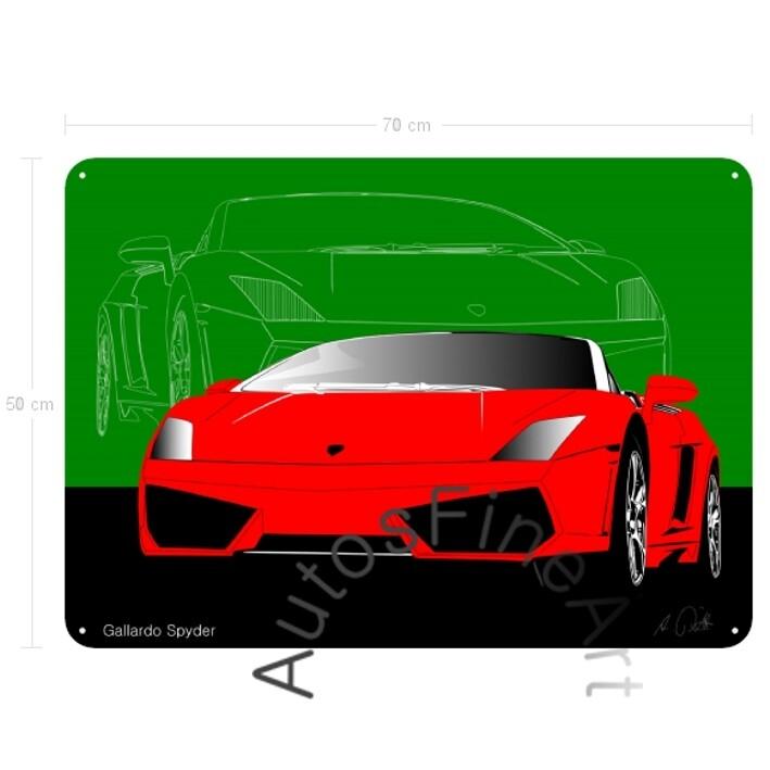 Lamborghini Gallardo Spyder - Blechbild No. 12sketch