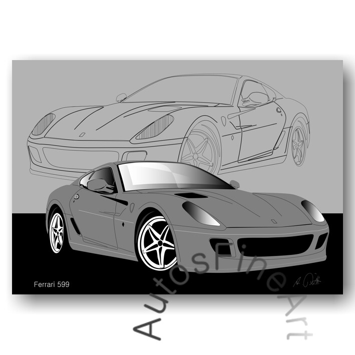 Ferrari 599 - Poster No. 13sketch