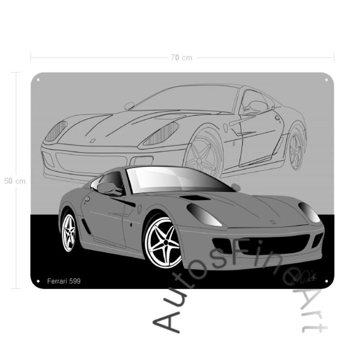Ferrari 599 - Blechbild No. 13sketch