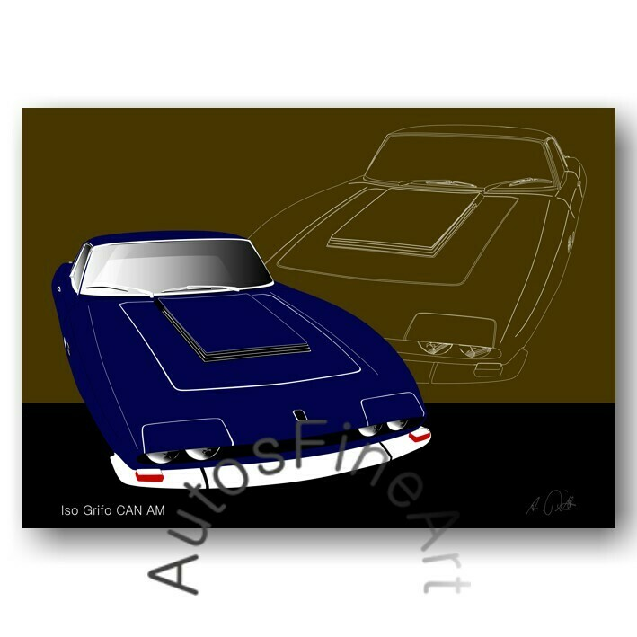 Iso Grifo CAN AM - Poster No. 14sketch