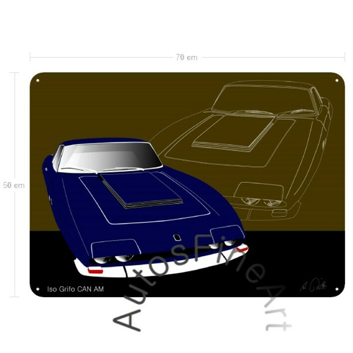 Iso Grifo CAN AM - Blechbild No. 14sketch