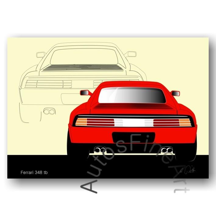 Ferrari 348 tb - Poster No. 17sketch