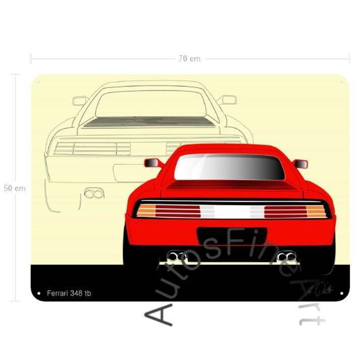 Ferrari 348 tb - Blechbild No. 17sketch