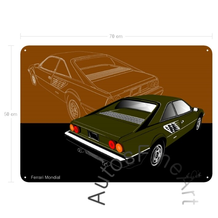 Ferrari Mondial - Blechbild No. 3sketch